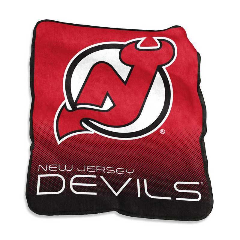 818-26A: LB NJ Devils Raschel Throw