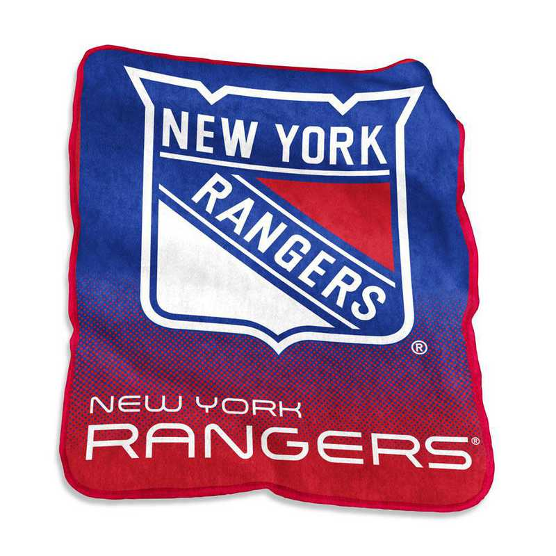 820-26A: LB NY Rangers Raschel Throw