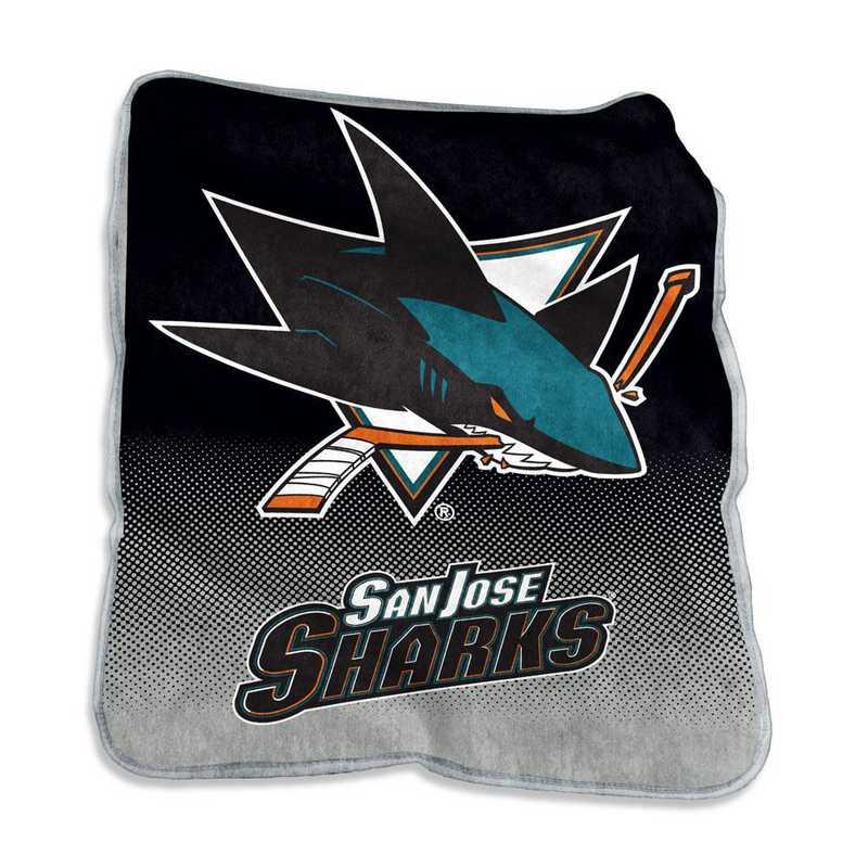 825-26A: LB San Jose Sharks Raschel Throw