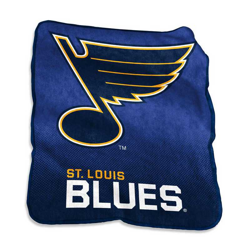 826-26A: LB St Louis Blues Raschel Throw