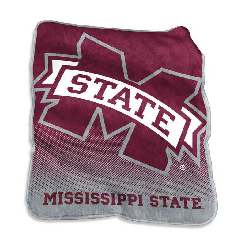 177-26A: LB Mississippi State Raschel Throw