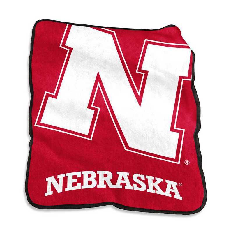 182-26A: LB Nebraska Raschel Throw