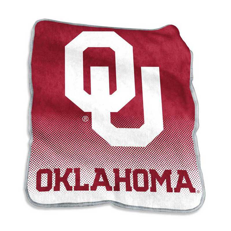 192-26A-1: LB Oklahoma Raschel Throw