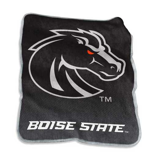 C3007-26A: LB Boise State Blackout Raschel Throw