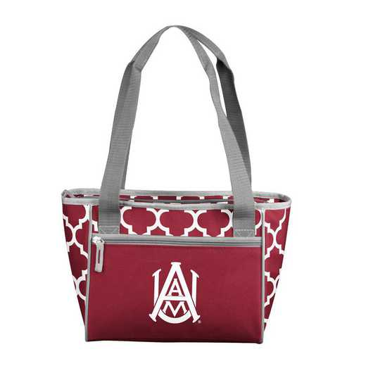 103-83QF: Alabama A&M Quatrefoil 16 Can Cooler Tote