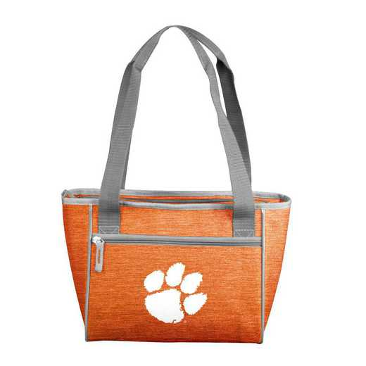 123-83-CR1: Clemson Crosshatch 16 Can Cooler Tote