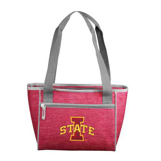 156-83-CR1: IA State Crosshatch 16 Can Cooler Tote