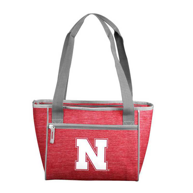 182-83-CR1: Nebraska Crosshatch 16 Can Cooler Tote