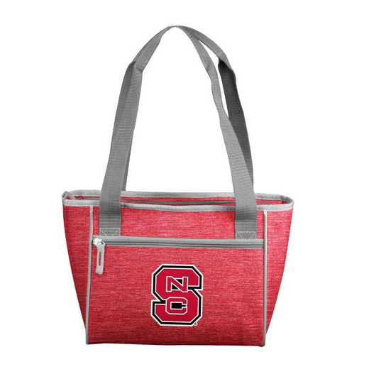 186-83-CR1: NC State Crosshatch 16 Can Cooler Tote