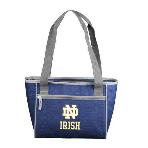 190-83-CR1: Notre Dame Crosshatch 16 Can Cooler Tote
