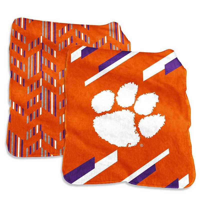 123-27S-1: Clemson Super Plush Blanket