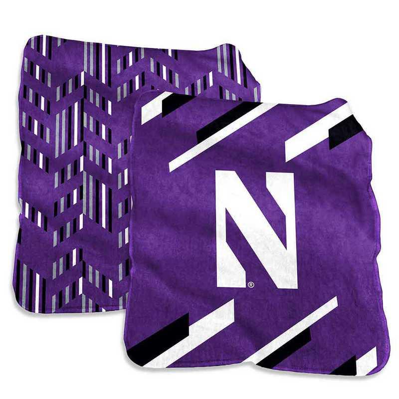 189-27S-1: Northwestern Super Plush Blanket