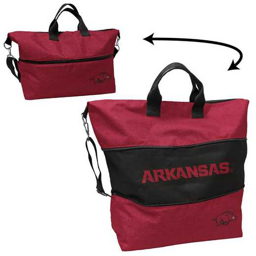 108-665-CR1: LB Arkansas Crosshatch Expandable Tote