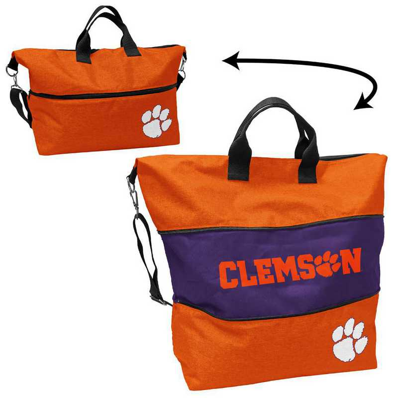 123-665-CR1: LB Clemson Crosshatch Expandable Tote