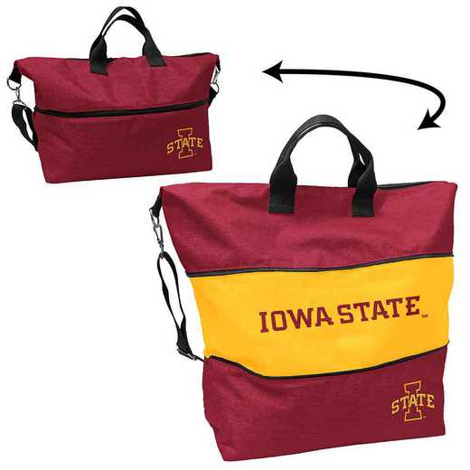 156-665-CR1: LB IA State Crosshatch Expandable Tote