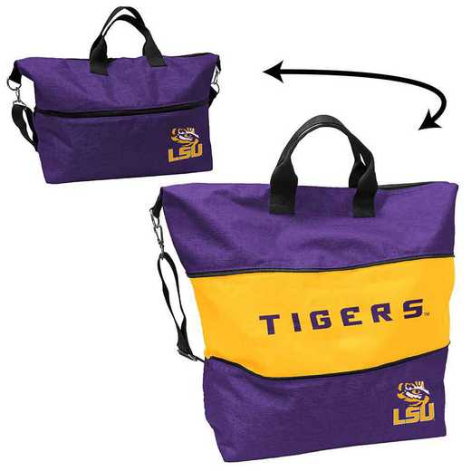 162-665-CR1: LB LSU Crosshatch Expandable Tote