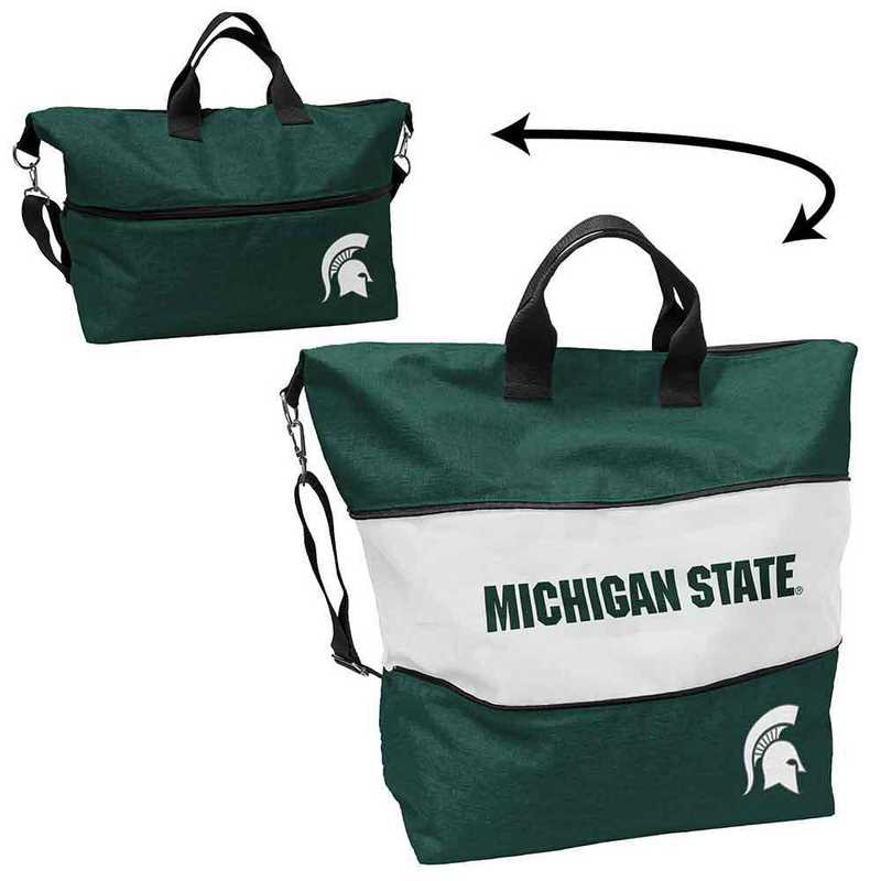 172-665-CR1: LB MI State Crosshatch Expandable Tote