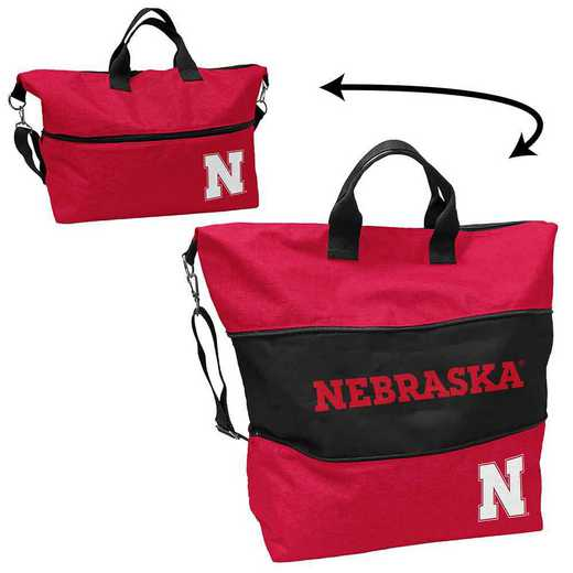 182-665-CR1: LB Nebraska Crosshatch Expandable Tote