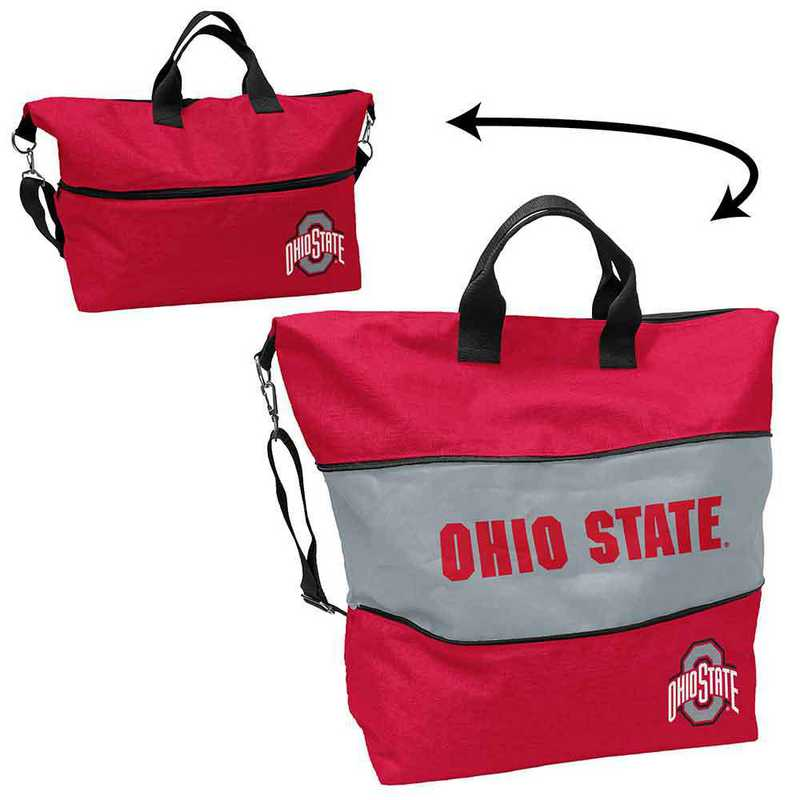 191-665-CR1: LB Ohio State Crosshatch Expandable Tote
