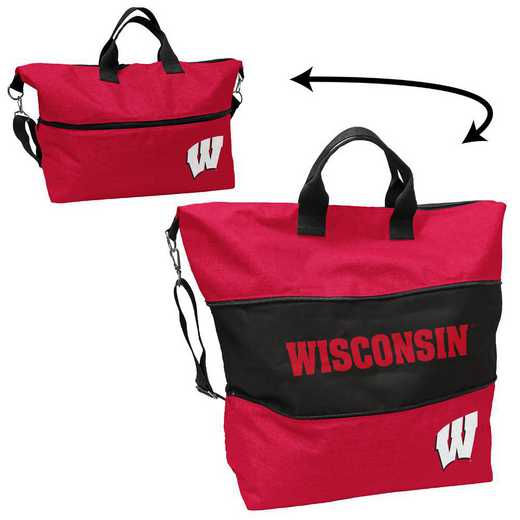 244-665-CR1: LB Wisconsin Crosshatch Expandable Tote