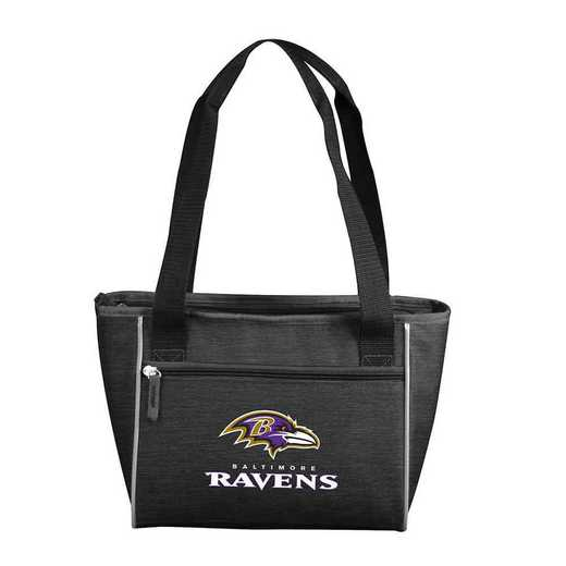 603-83-CR1: Baltimore Ravens Crosshatch 16 Can Cooler Tote