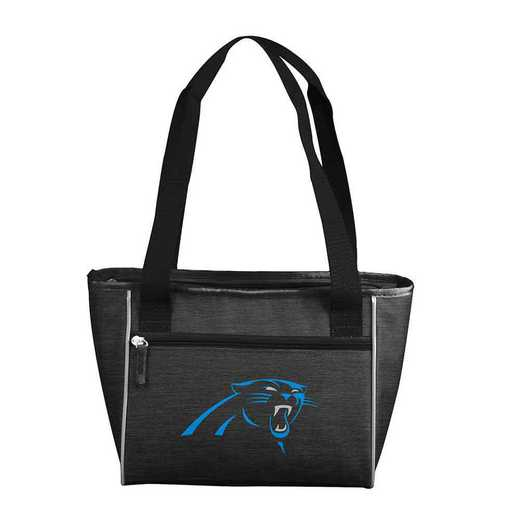 605-83-CR1: Carolina Panther Crosshatch 16 Can Cooler Tote