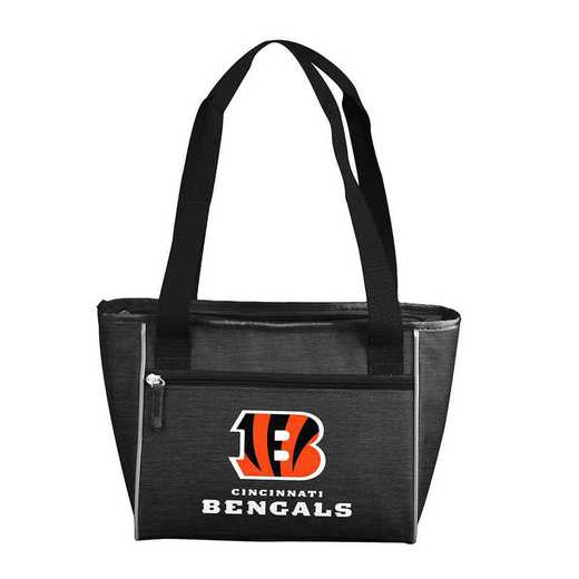 607-83-CR1: Cincinnati Bengal Crosshatch 16 Can Cooler Tote