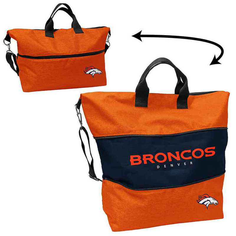 610-665-CR1: LB Denver Broncos Crosshatch Expandable Tote