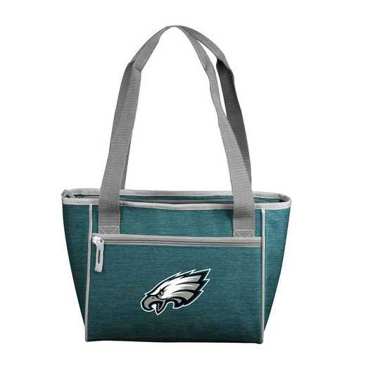 624-83-CR1: PhiladelphiaEagle Crosshatch 16 Can Cooler Tote