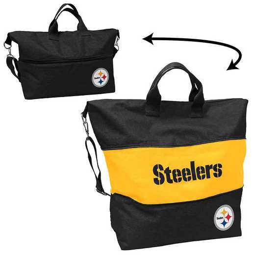 625-665-CR1: LB Pittsburgh Steelers Crosshatch Expandable Tote