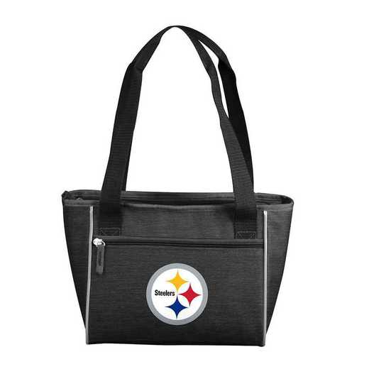 625-83-CR1: PittsburghSteeler Crosshatch 16 Can Cooler Tote