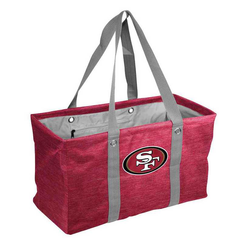 627-765-CR1: San Francisco 49ers Crosshatch Picnic Caddy