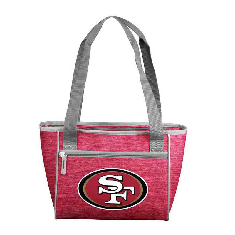 627-83-CR1: San Fran 49ers Crosshatch 16 Can Cooler Tote