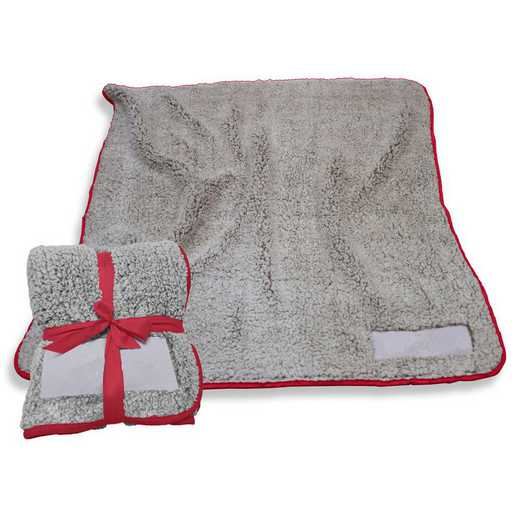 001-25F-CARDINAL: Plain Cardinal Trim Frosty Fleece