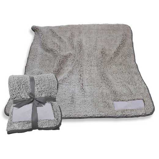 001-25F-CHARCOAL: Plain Charcoal Trim Frosty Fleece
