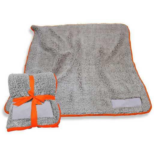 001-25F-ORANGE: Plain Orange Trim Frosty Fleece