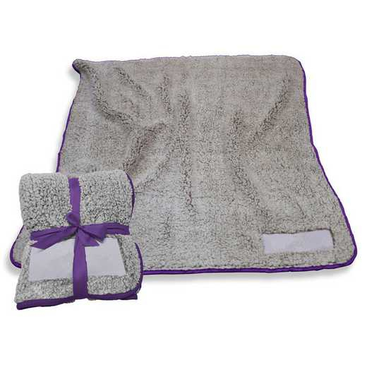 001-25F-PURPLE: Plain Purple Trim Frosty Fleece