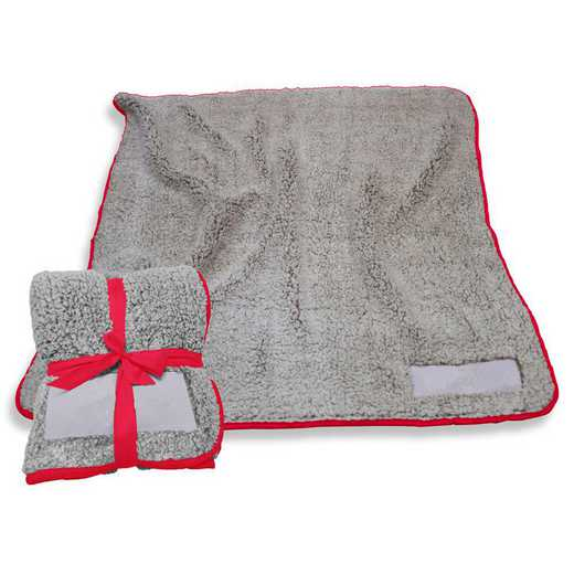 001-25F-RED: Plain Red Trim Frosty Fleece
