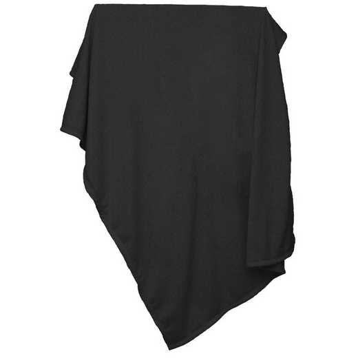 001-74-BLACK: Plain Black Sweatshirt Blanket
