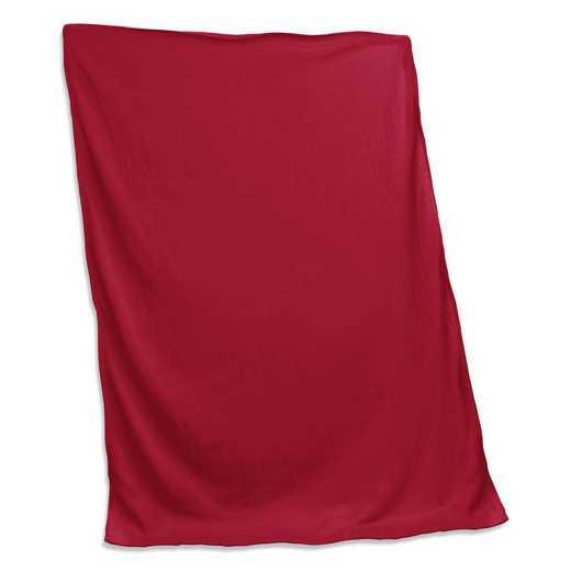001-74-CARDINAL: Plain Cardinal Sweatshirt Blanket