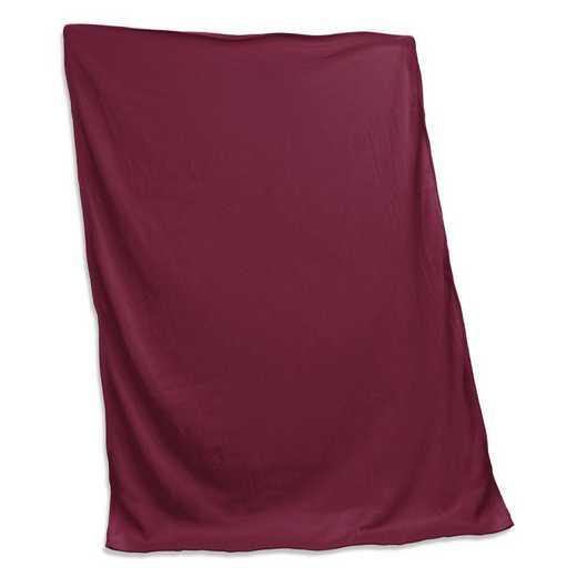 001-74-MAROON: Plain Maroon Sweatshirt Blanket