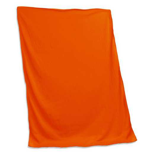 001-74-ORANGE: Plain Orange Sweatshirt Blanket
