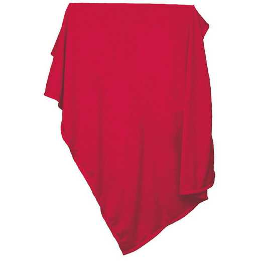 001-74-RED: Plain Red Sweatshirt Blanket