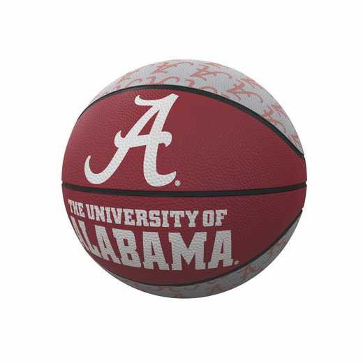 102-91MR-1: Alabama Repeating Logo Mini-Size Rubber Basketball