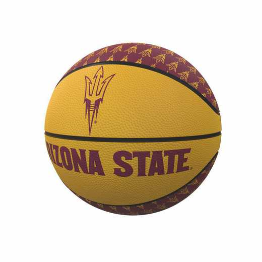 107-91MR-1: AZ State Repeating Logo Mini-Size Rubber Basketball