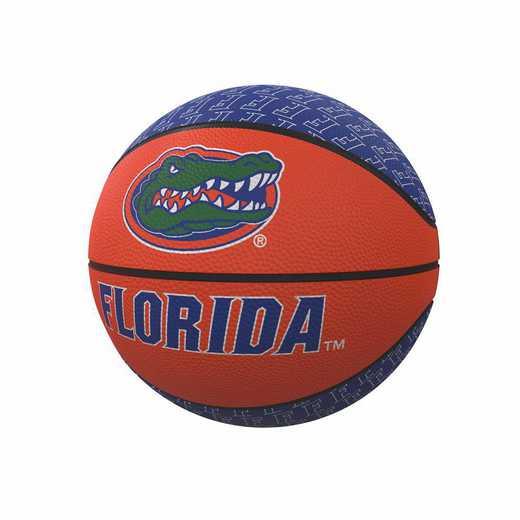 135-91MR-1: Florida Repeating Logo Mini-Size Rubber Basketball