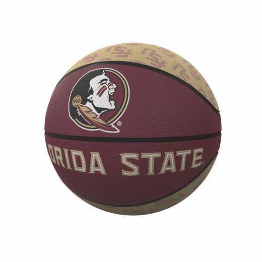 136-91MR-1: FL State Repeating Logo Mini-Size Rubber Basketball