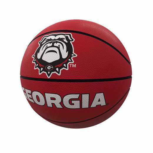 142-91FR-1: Georgia Mascot Official-Size Rubber Basketball