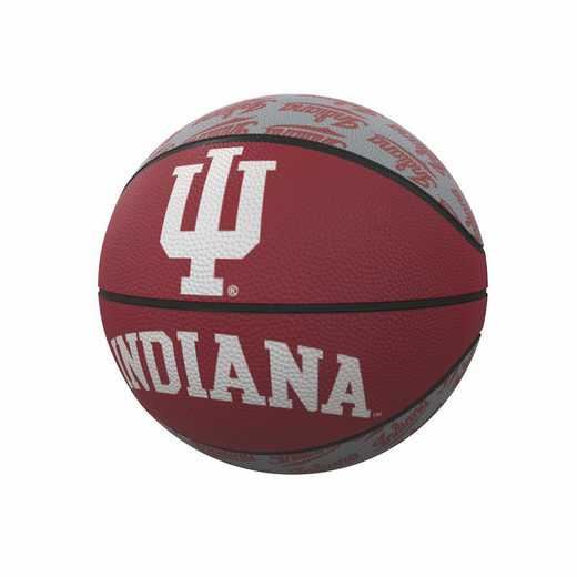 153-91MR-1: Indiana Repeating Logo Mini-Size Rubber Basketball