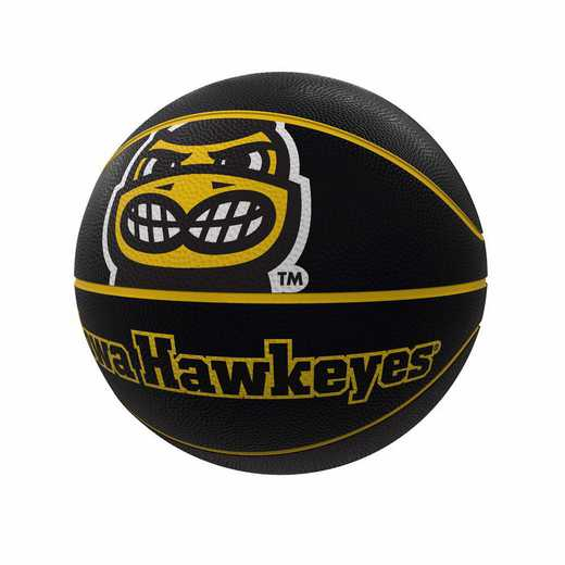 155-91FR-1: Iowa Mascot Official-Size Rubber Basketball